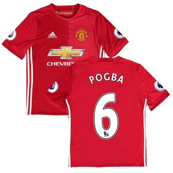 sale retailer be169 e344f Manchester United -Paul Pogba Adidas Soccer Jersey NWT